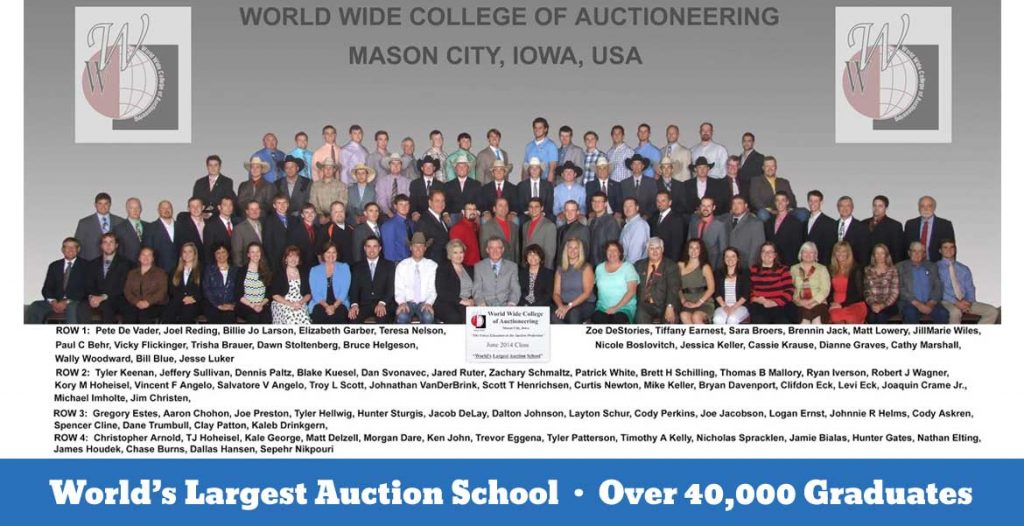 June 2014 Auction College Class